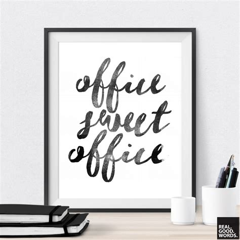 office wall art office sweet office printable office wall art by realgoodwords