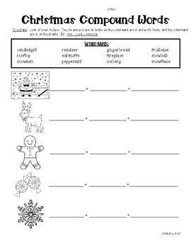 christmas compound words worksheet 1000 images about school stuff on pinterest fact