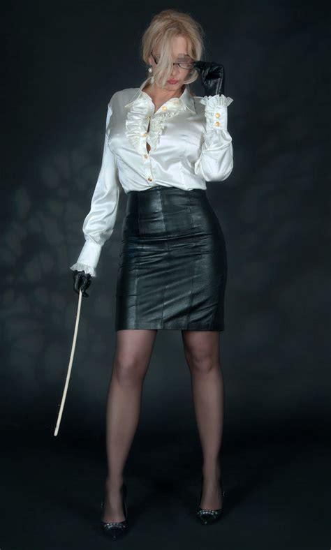 Verona Skirt White authority photo strict satin