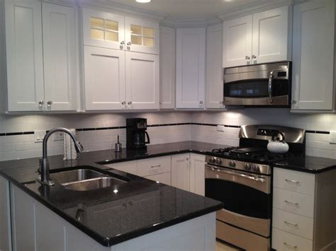 Small U Shaped Kitchen Small U Shaped White Painted Custom Kitchen In Skokie Il Traditional Kitchen Chicago By