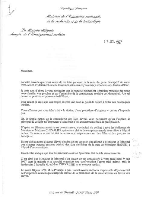 Exemple De Lettre Pour Harcelement Moral L Objet Du Site Et R 233 Sum 233 De L Affaire Par La Lettre D Adieux De Bernard Hanse Bernard Hanse