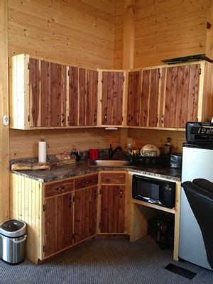 Cedar Kitchen Cabinets by Options Deer Run Cabins Quality Amish Built Cabins