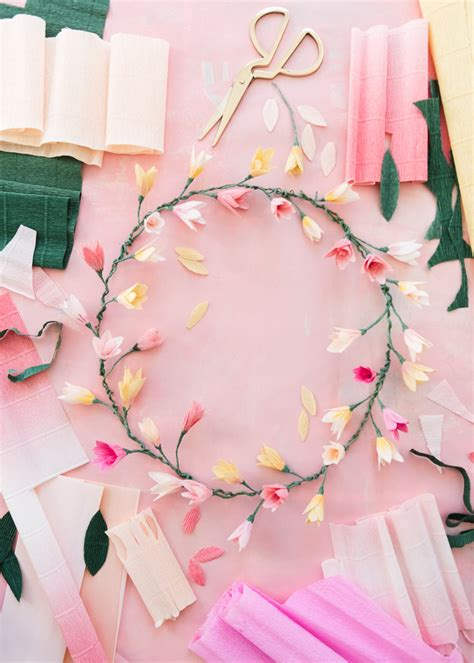 Pink Craft Paper - pink paper blossom wreath the house that lars built