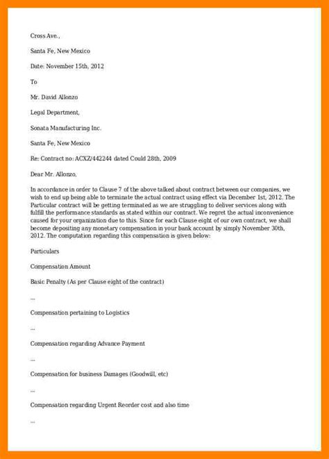 termination letter agreement template 13 letter termination producer resume