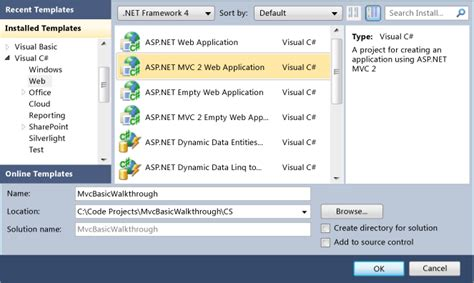 tutorial vb net mvc walkthrough creating a basic mvc project with unit tests