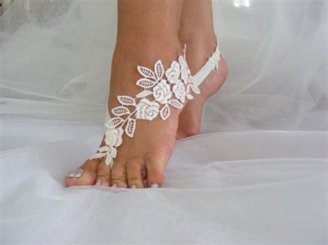 Lace Sandals Wedding by Lace Barefoot Sandals Wedding Sandals Wedding
