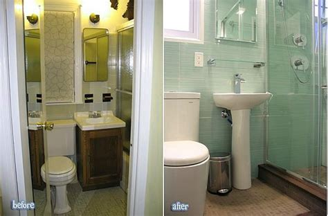 renovating small bathrooms amazing before and after bathroom renovations