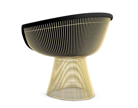Platner gold plated lounge chair hivemodern com
