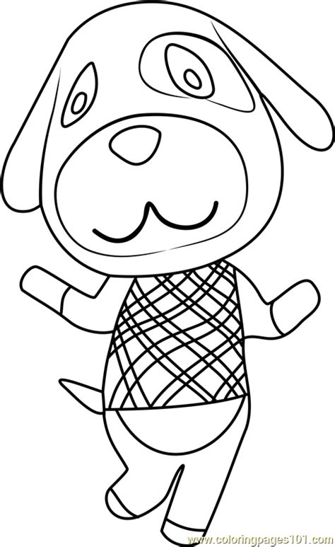 coloring pages of animal crossing new leaf goldie animal crossing coloring page free animal