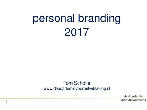 Personal Branding Mba by Personal Branding Canvas 2017