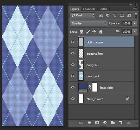 photoshop pattern overlay not working create a seamless argyle pattern with a fabric texture