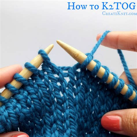 How To K2tog And P2tog Knit 2 Together Purl 2 Together