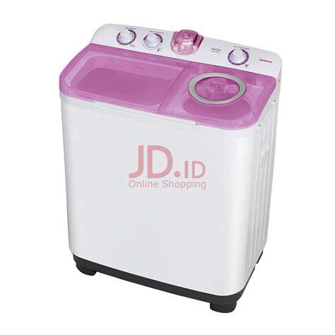 Harga Mesin Cuci Sanken Otomatis jual sanken mesin cuci 2 tabung tw 9900as putih pink jd id