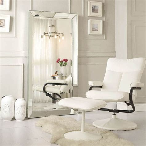 omni beveled mirrored frame rectangular floor mirror by