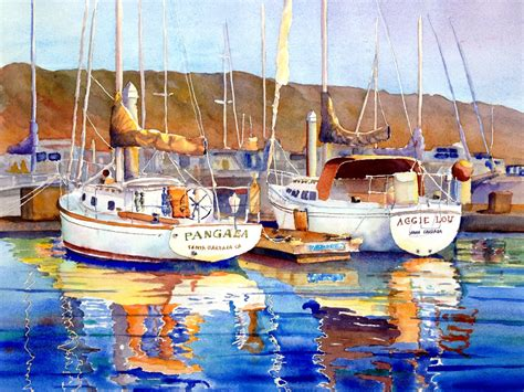 boat harbor pictures boats and harbors mike rider watercolor