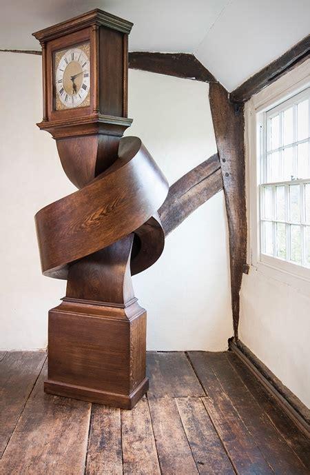 wooden knot clock