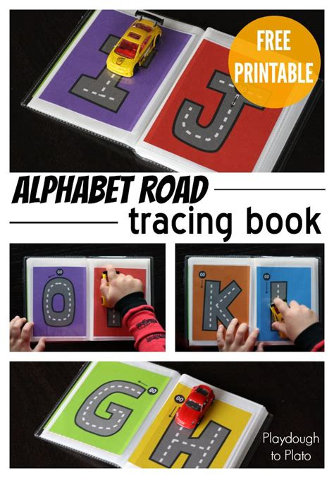 printable road letters free printable letter tracing roads