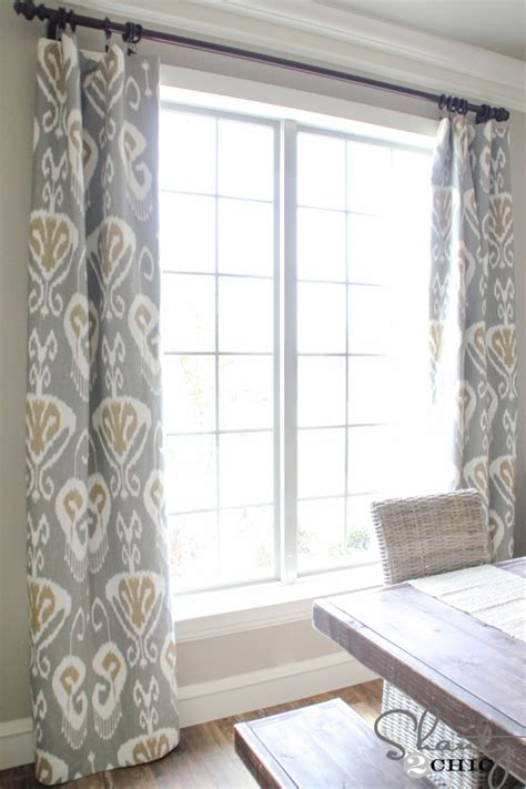 dining room window curtains diy lined window panels shanty 2 chic