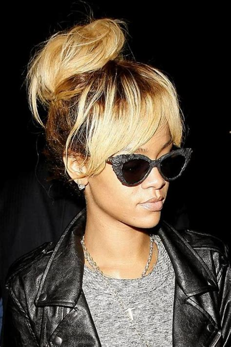 Rihanna Shows Us How Bangs Are Meant To Be Worn by Top 100 Hairstyles For Black Herinterest
