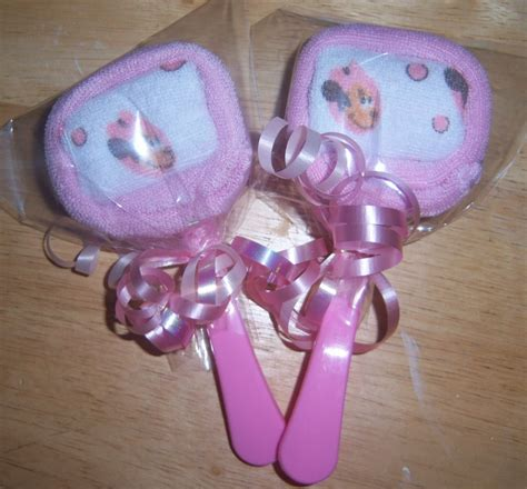 Minnie Mouse Baby Shower Favors by 2 Mickey Mouse Minnie Or Pluto Washcloth Lollipops Baby