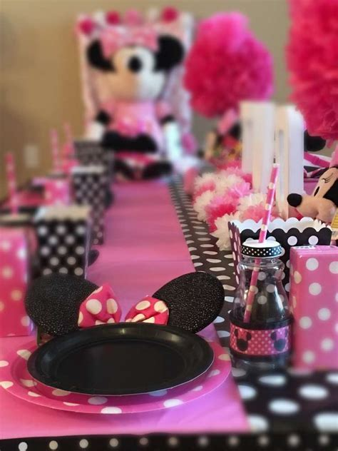 Minnie Mouse Birthday Party Ideas   Photo 1 of 4   Catch