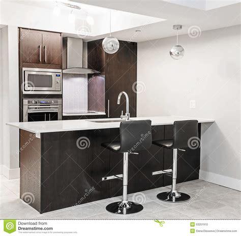 Luxury Kitchen Counter Stools modern kitchen interior stock photo image 53251910