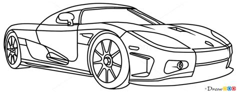 koenigsegg car drawing how to draw koenigsegg cc8s supercars drawings