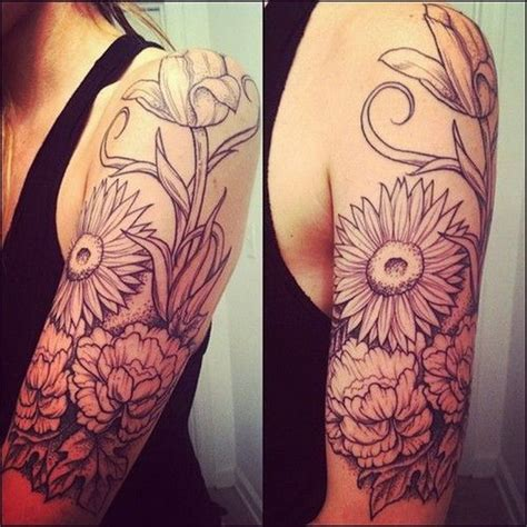 tattoo flower half sleeves 45 awesome half sleeve tattoo designs 2017