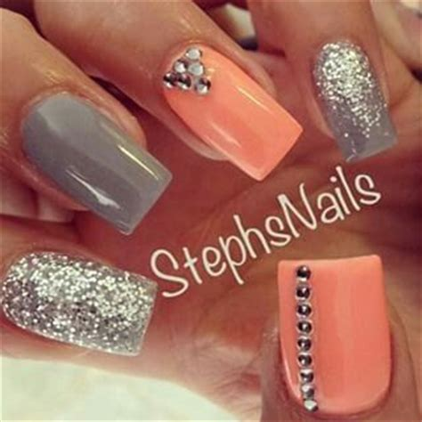 what colors make coral best 25 coral nails glitter ideas on coral