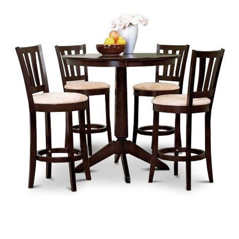 Counter Height Table And Chairs by Espresso Counter Height Dining Bar Table And 4 Bar Stools