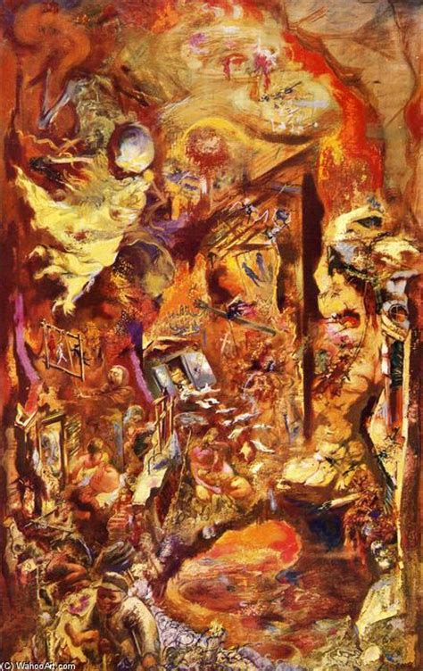 the pit the pit on canvas by george grosz 1893 1959 germany