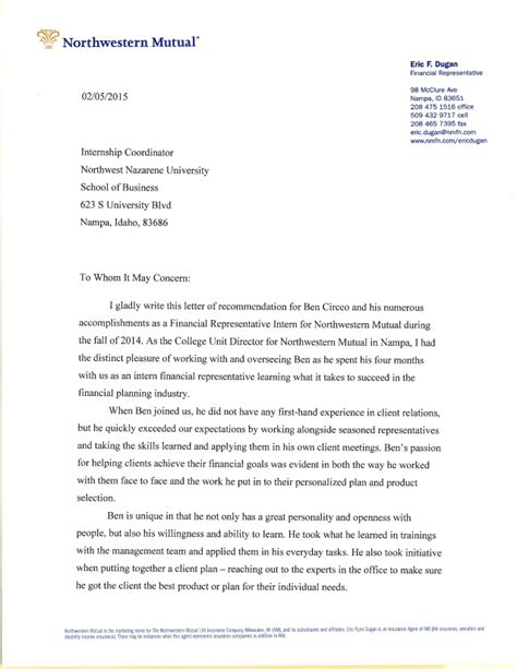 Northwestern Letter Of Recommendation Northwestern Letter Of Recommendation