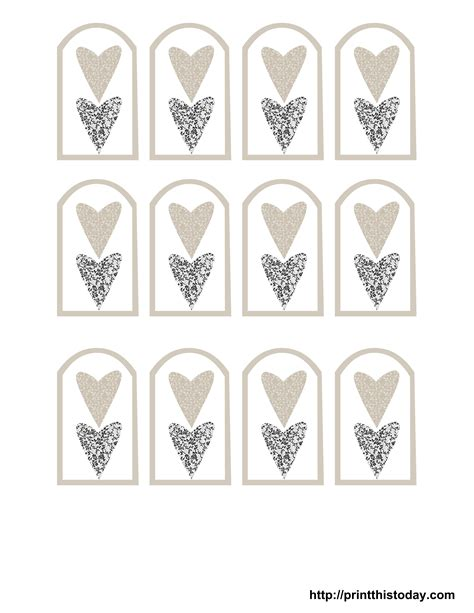 templates for tags for favors free printable wedding favor tags