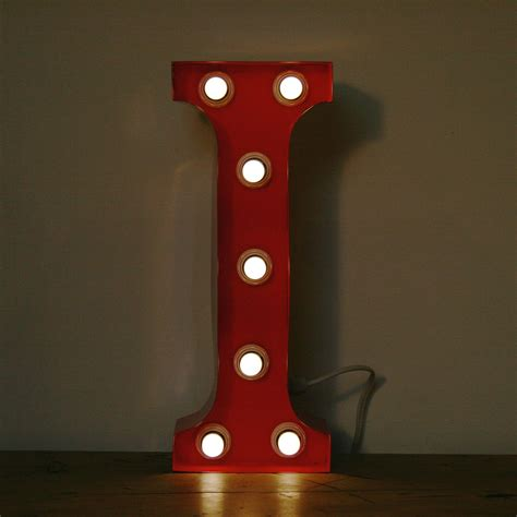 Red I 15 Quot Light Up Letter The Consortium Vintage Lights I