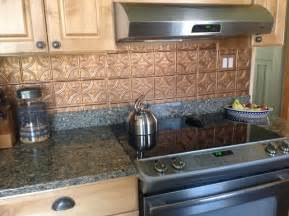 Kitchen Backsplash Tin Shiny Copper Backsplash Contemporary Kitchen Tampa