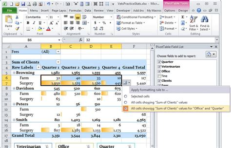 format pivot table excel 2007 conditional formatting for pivot tables in excel 2016 2007