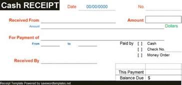 Cash Payment Receipt Template Word Free Cash Receipt Template Word
