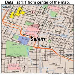 salem oregon map 4164900