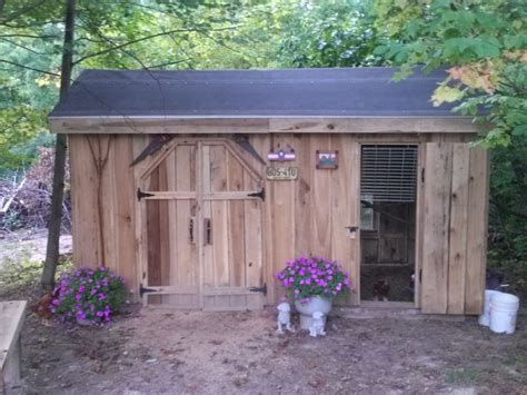 Shed Chicken Coop by Shed Coop Combo Cabin Cottage Gardens Chickens