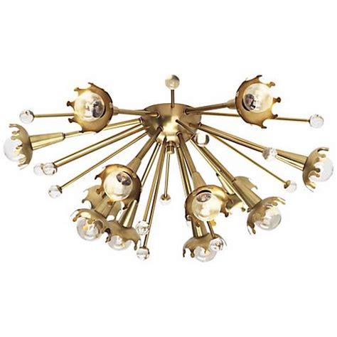flush mount sputnik light jonathan adler sputnik flush mount brass ceiling light