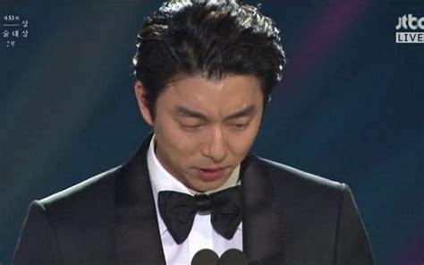 film terbaik gong yoo meraih gelar aktor terbaik di baeksang arts awards 2017