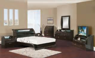 King Size Bedroom Set Black Zebrano 5pc King Size Modern Bedroom Set