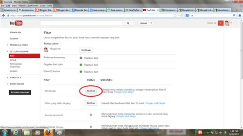 cara mengupload video di youtube cara memasang google adsense di youtube
