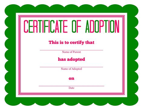 stuffed animal name card template free printable stuffed animal adoption certificate free