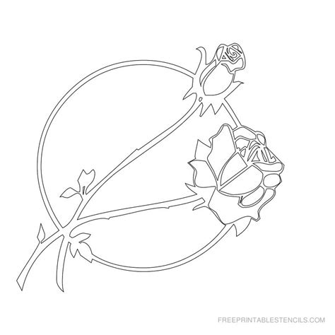 printable stencils rose free stencils free printable flower picture stencils