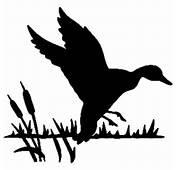 Duck Landing In Cattail Decal ST2010B 21 Window Sticker