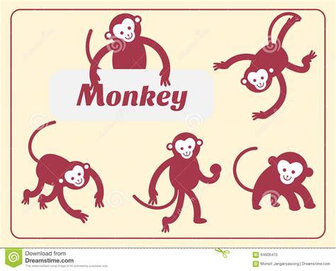new year monkey birth years monkey vector illustration stock vector