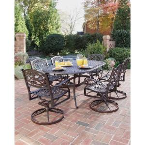 Patio Dining Sets 300 Home Styles Biscayne Bronze 7 Swivel Patio Dining