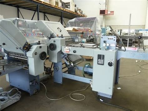 Used Paper Folding Machine For Sale - used paper folding machine for sale stahl t 50 4 4