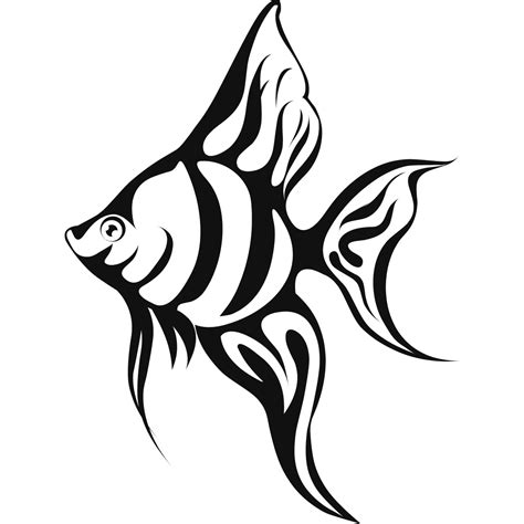 coloring pages wall art tropical fish coloring pages clipart panda free